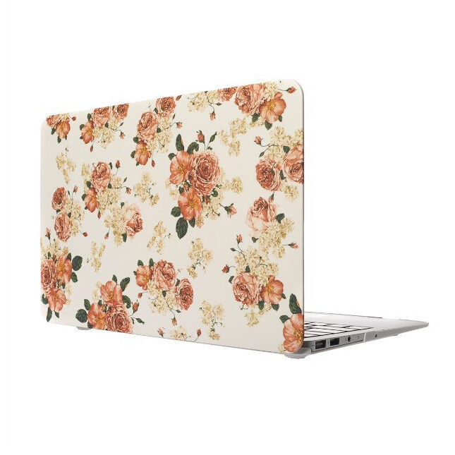 Luxury Pastoral Flower Rubberized Matte Ultra Thin Hard Laptop Case Cover For Macbook Air 11 13 Pro 13 15 Pro 13 15 Retina Shell