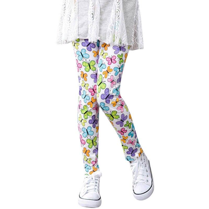 2017 Toddler Classic girls pants Baby Kids legging baby girl leggings 2-14Y Autumn Children printing Flower Leggings