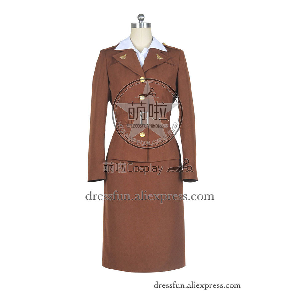 captain america cosplay agent margaret peggy carter costume new