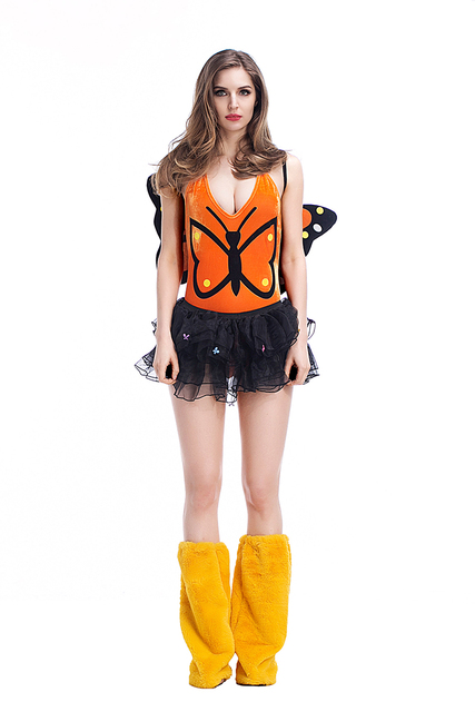c8b588adc Adultos mujeres Halloween Sexy mariposa Pokemon disfraz porno juegos Vestido  corto Romper traje Hada Cosplay Club