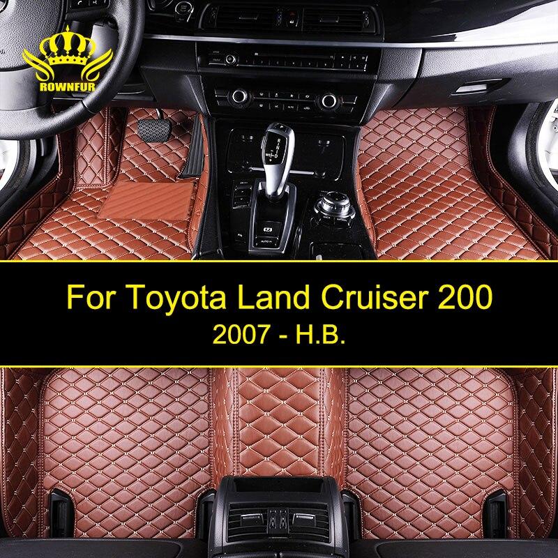 Car Floor Mats For Toyota Land Cruiser 200 Series Custom Fit Most Cars Artificial Leather Carpet Mats Protect Interior Car Mats цена