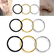 1PC Gold Fake Nose Ring Labret Piercing Nose Piercings Earrings 20G Stainless Steel Labret Tragus Helix Earrings Body Jewelry(China)