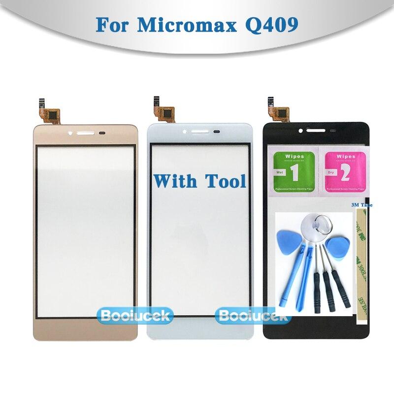 """Hohe Qualität 5,0 """"Für Micromax Q409 Touchscreen Digitizer Sensor Äußeren Glas Objektiv Panel Schwarz weiß gold"""