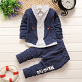 BibiCola Kids Outfits Spring Autumn Baby Boys Clothing Sets Kids Long Sleeve Sports Suits Children Stripe Gentleman Clothes Set
