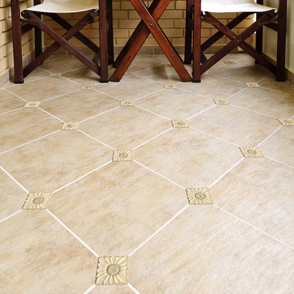 funlife self adhesive diagonal floor tile seam stickers marble retro diy tile sticker waterproof floor sticker for living room
