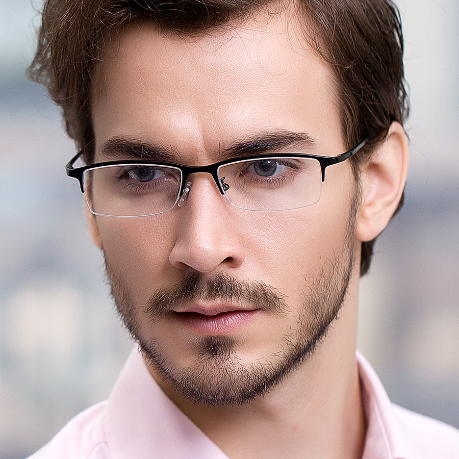 Mens Half Frame Glasses : Glasses? Can you post what glasses you like seeing on guys ...