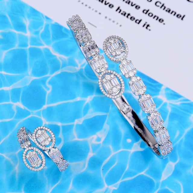 Trendy Bangle Ring Set