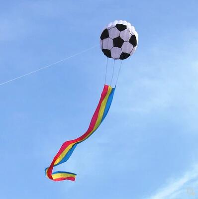 Free shipping high quality rainbow football kite flying soft kites for adults outdoor toys wheel eagle dragon kite factory Free shipping high quality rainbow football kite flying soft kites for adults outdoor toys wheel eagle dragon kite factory