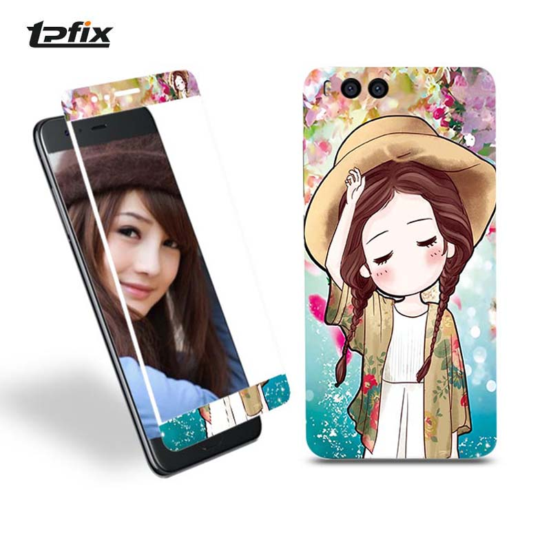 TPFIX 360 Coverage Cartoon Tempered Glass For Xiaomi 5S Mi 6 Screen Protector For Xiaomi 5C 5S Plus Guard Film Front + Back Case