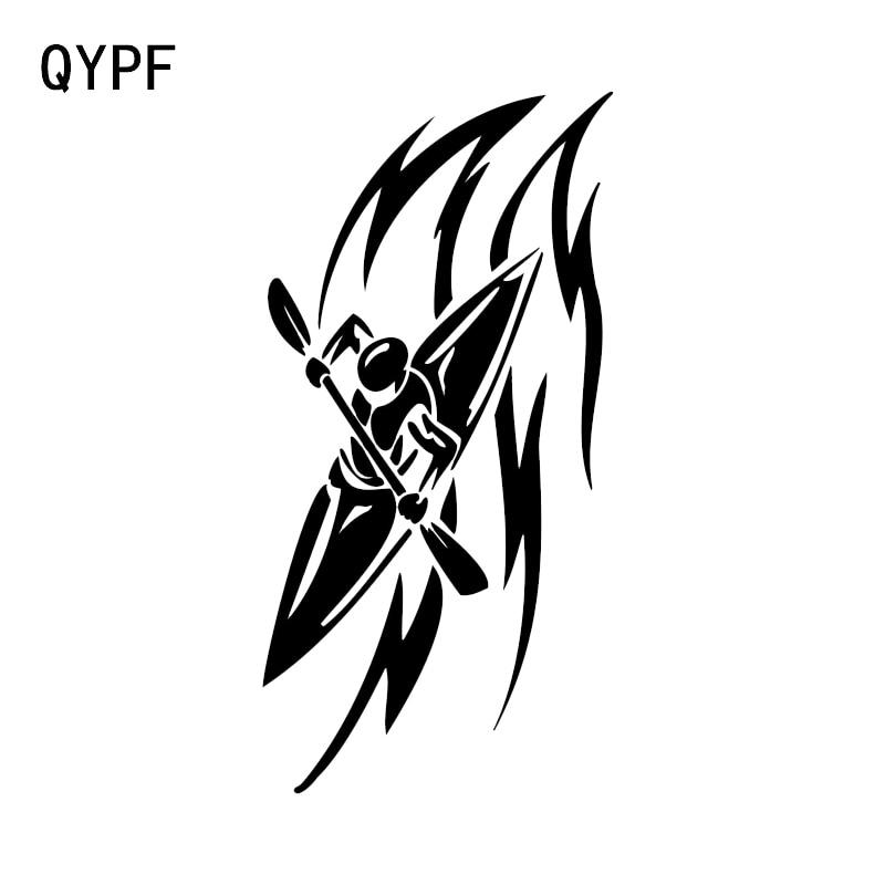 QYPF 8,3*16,5 см декор для каноэ Автомобильная наклейка винил Экстремальный движение высокое качество Силуэт черный/серебряный цвет