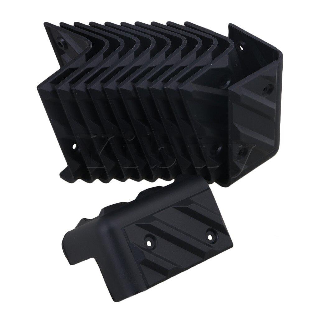 yibuy 12 pieces plastic corner protector for speaker cabinet guitar amplifier musical instrument. Black Bedroom Furniture Sets. Home Design Ideas