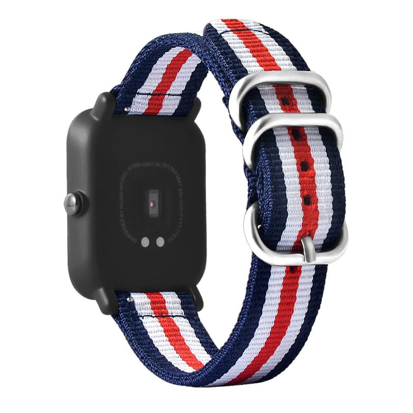 New Canvas Watch Band Strap With Buckle Connector For Xiaomi Amazfit Sport Smartband 18A ...