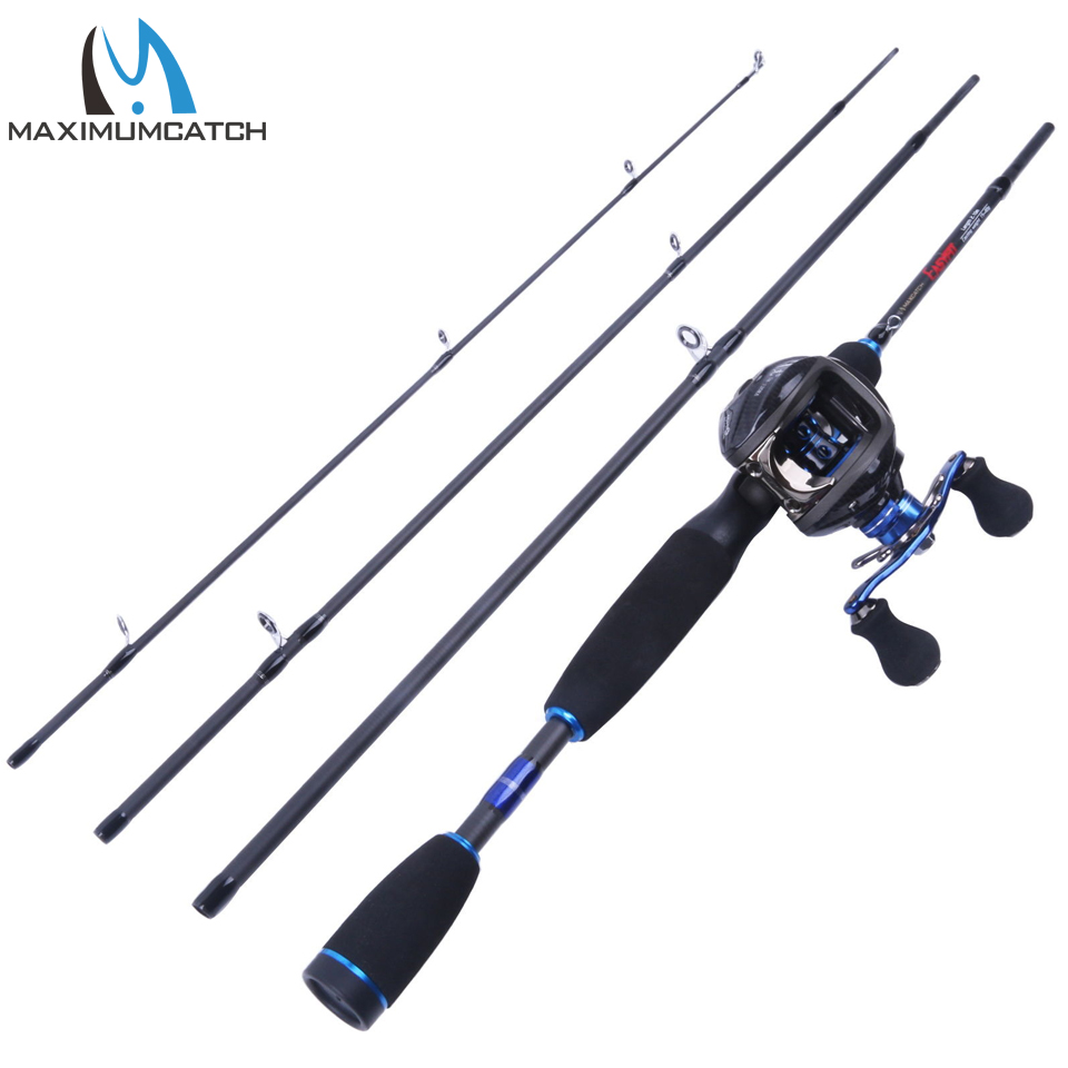 Maximumcatch baitcasting combo 6 39 9 casting rod left for Best spinning reel for bass fishing