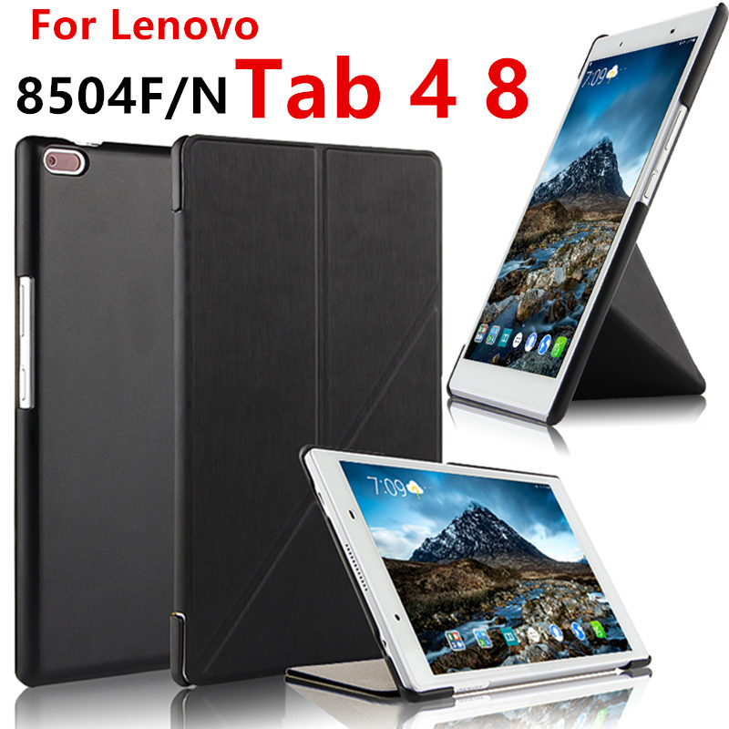 For Lenovo Tab 4 8 Case Cover TAB4 8.0 inch Case Protective Smart TB-8504F TB-8504N Tablet tab48 Cases Sleeve Leather Protector cover case for lenovo tab4 8 tb 8504x protective cover for lenovo tab 4 8 tb 8504f tb 8504 tb 8504n tablet leather cases covers