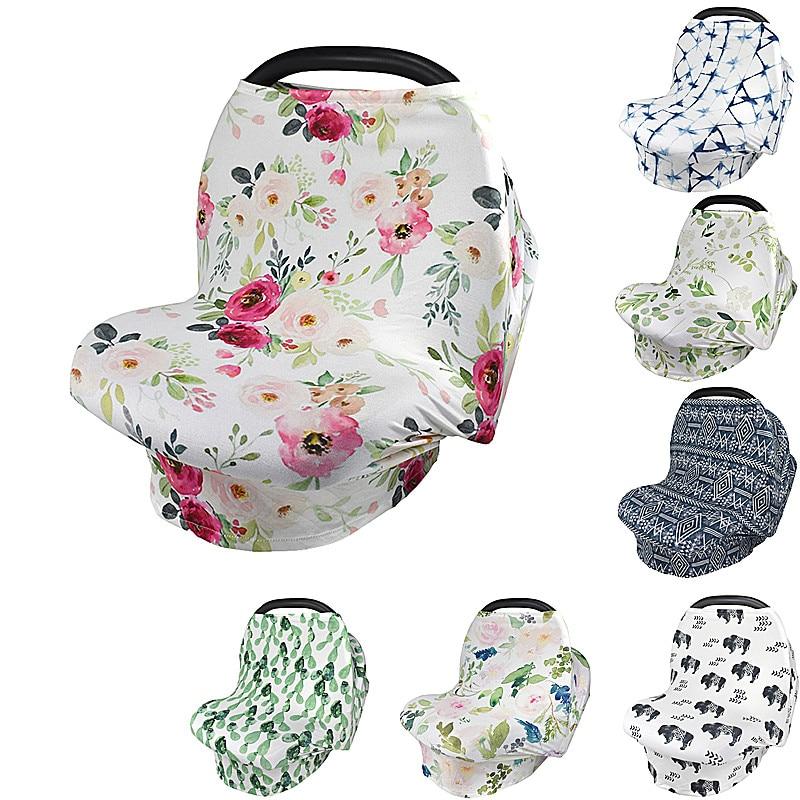 Jomolly 5-in-1 Stretchy Stars Baby Car Seat Covers Nursing Scarf Breastfeeding Canopy