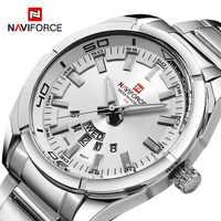 NAVIFORCE 2019 новые Брендовые мужские часы, мужские полностью стальные водонепроницаемые повседневные кварцевые часы с датой, мужские наручные ...