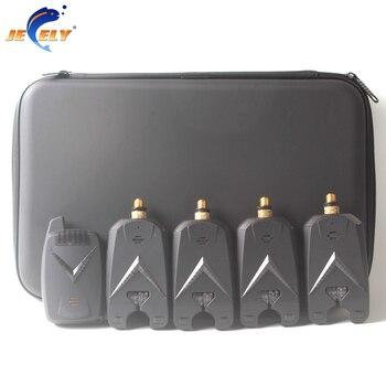 JY-68-4 Alarm Zgryzowy Bezprzewodowy Sygnalizator Brań Ryb 8 LED Dla Karpia Sygnalizator Brań Ryb (4alarm + 1 Odbiornik)
