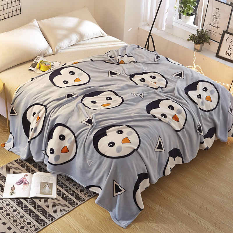 Ferret cashmere blanket for bed brand coral fleece fabric plaid super warm soft blankets throw pure color stares pink blue black