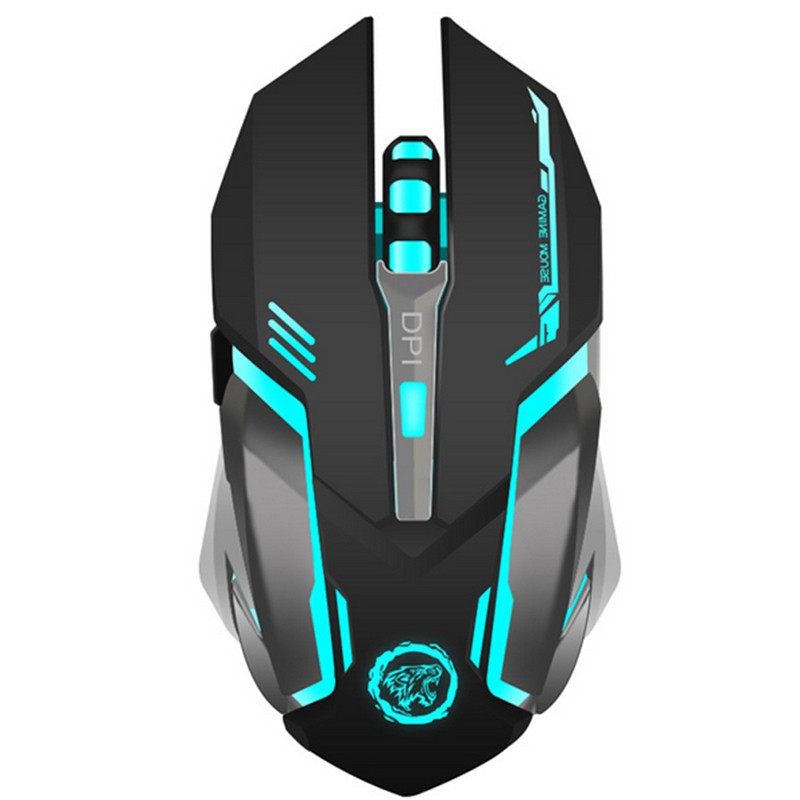 Rechargeable Wireless Silent 2400DPI PC Usb Optical Ergonomic Gaming Mouse Mice