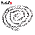 Super Cool 925S Sterling Silver Men's Match Necklace Chain For Man Woman Personality Vintage Jewelry BR925XL053