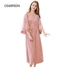 CEARPION Bathrobe Solid Velvet Sleepwear Elegant Women s Kimono Bathrobe Gown Autumn Pajamas Bride Bridesmaid Wedding