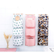 Printed Style Storage Bag Multifunction Cosmetic Organizer Oxford Cloth Box 3 Pockets Wardrobe Wall Pouch Toys Container