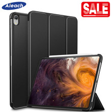 Smart Magnetic Case For New iPad Pro 11 2018 Rilis Ultra Slim Shockproof PU Lipat Tiga Kulit Stand Cover untuk iPad pro 11 Kasus(China)