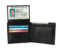 RFID Wallet Blocking Genuine Leather Clutch Men 2018 Purse Anti Lost Coin Pocket GPS Map Card Holders
