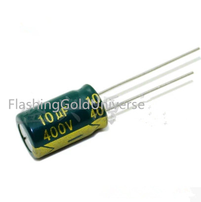 100PCS-500PCS 400V10UF <font><b>10UF</b></font> <font><b>400V</b></font> Electrolytic Capacitor volume 10*17 10*13 best quality New origina image