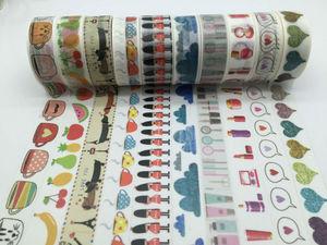 Image 5 - 2298 Mẫu tự làm Mặt Nạ băng đặt 30 cái/lốc In Hoa Deco DIY Sticker/Dính Nhật Bản băng jiataihe Washi Băng bán buôn