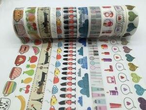 Image 5 - 2298 Patterns diy Masking tape set 30pcs/Lot Flower Print Deco DIY Sticker /Adhesive Japanese tape jiataihe Washi Tape Wholesale