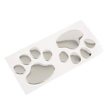 1/2/4 Pairs Cool Design Paw Car Sticker 3D Dog Cat Bear Foot Prints