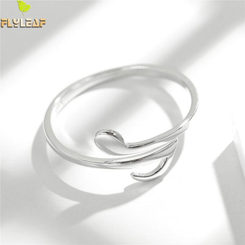 Flyleaf Marke 100% 925 Sterling Silber Musical Note Offene Ringe Für Frauen Kreative Design Dame Mode Schmuck