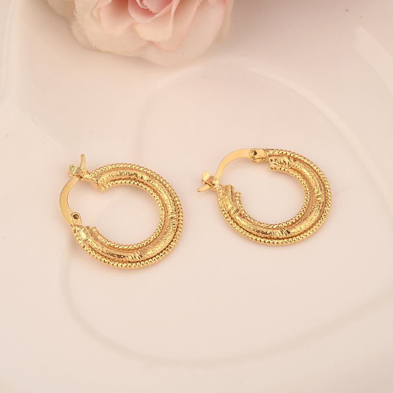 Bangrui Ethiopian/Eritrea/Nigeria/Kenya /Ghana African girls earrings Gold hoop earrings jewelry For Women Wholesale gift