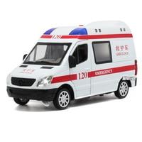 16.5cm for Mercedes Benz 120 Ambulance Model Toy Car Children's Alloy Pull Back 110 Car Model Super Wheel City Patrol Model Car