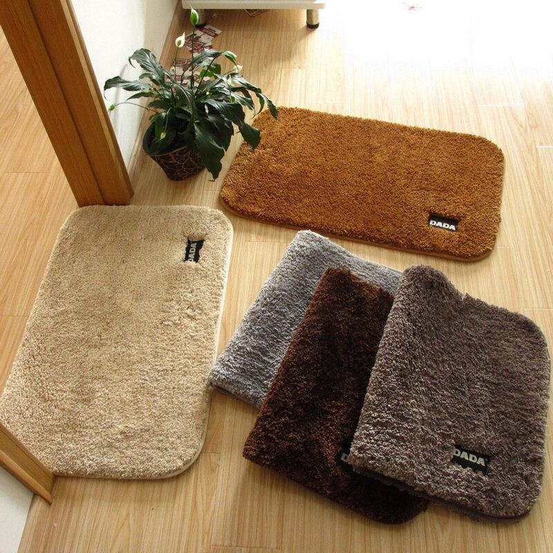 Soft Thicken Carpet For Bedroom Solid Bathroom Carpet Anti-Slip Floor Mat For Toilet Berber Fleece Doormat alfombra Bathroom Rug