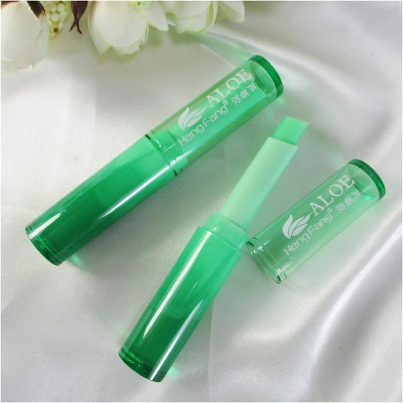 Waterproof Moisture Aloe Vera Lip Balm Natural Lipbalm Temperature Changed Color Lipstick