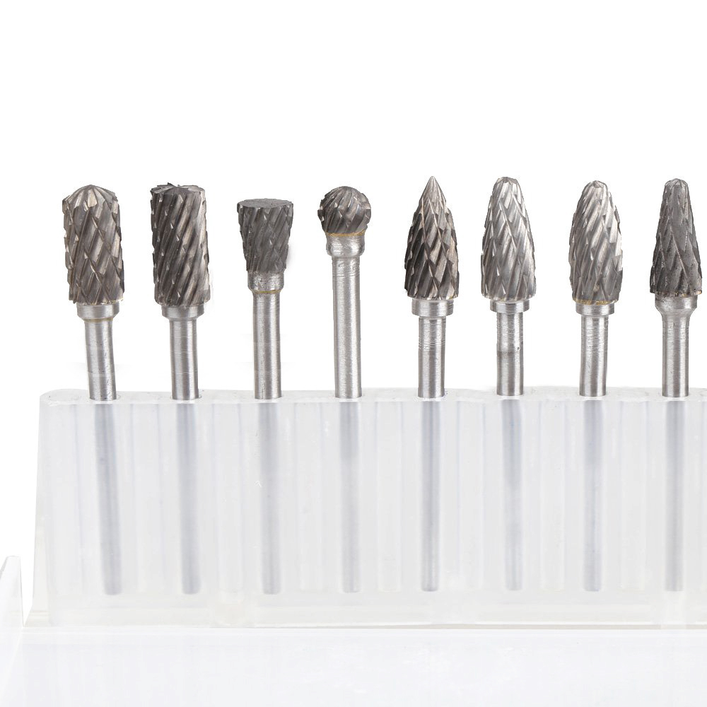 Hot Sale 10 x Solid Carbide Burrs for Rotary Drill Die Grinder Carving Bit hot sale20 x tungsten steel solid carbide burrs for rotary drill die grinder carving
