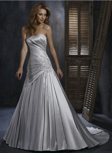 Elegant Silver Grey Wedding Dress In Wedding Dresses From