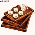 Китайский традиционный деревянный прямоугольный чайный набор поднос ручной работы кунгфу Чайный набор поднос бытовой чайный сервиз аксес...