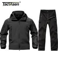 TACVASEN New Men Tactical Military Uniform Clothing Waterproof Army Combat Uniform Tactical Pants Men S Camouflage