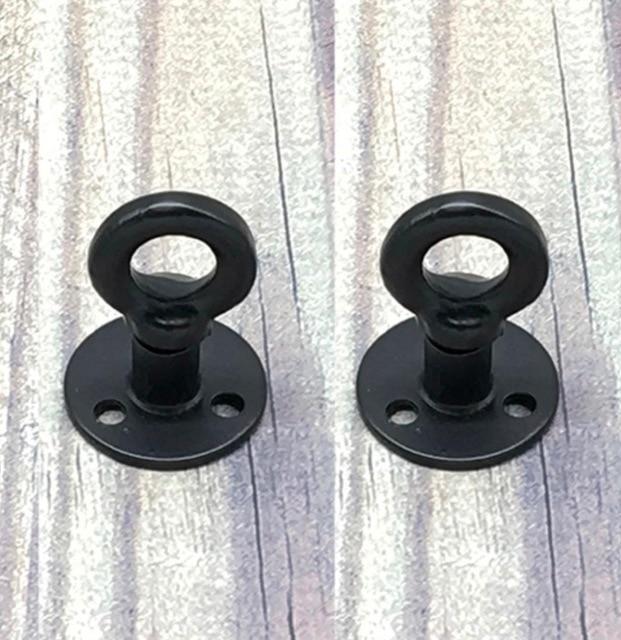 2 unids/lote diámetro de la Base: 38mm perchas de gancho de Base de Brida de hierro de gabinete americano Retro