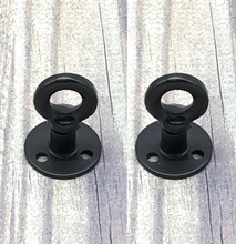 2Pieces/Lot Base Diameter:38mm  Retro American Cabinet Handle Iron Flange Furniture Hook Hangers