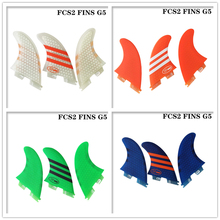 Surf FCS2 New style G5 fins White/Blue/Red/Green color Surfboard FCSII