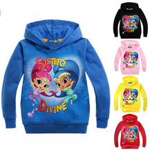 Girls clothes cartoon printed tee baby boy Magic ruffle raglan summer Sweater children shirts top Best selling!(China)