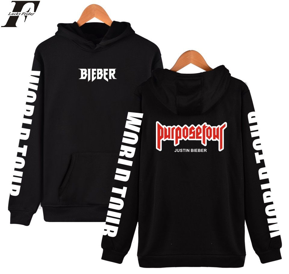 Fashion Brand Design Justin Bieber Purpose Tour Hoodies Pullover Printed Men Women Sport Hip Hop Style Hooded Sweatshirts Tops