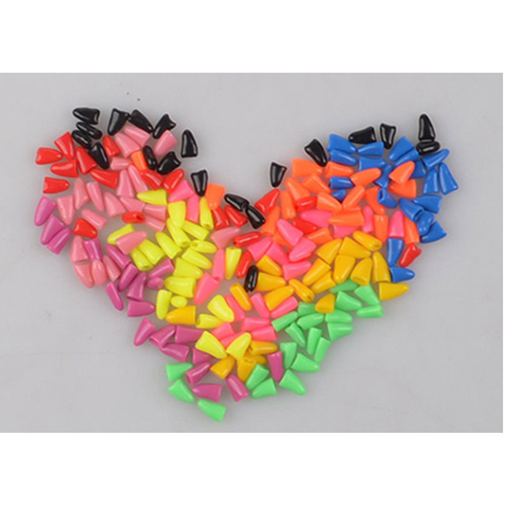 Pets Dog Nail Cover Newest color 20pcs Soft Silicone Pet Nail Protector Dogs Cats Paw Claw Nail Cover Non-toxic Rubber Hot Sale