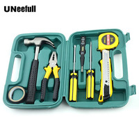 UNeefull 9 PC Household & Automotive maintenance combination Repair Hand kit tool,Pliers, Hammer sets for wood electrician tools