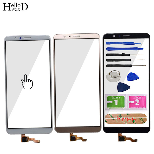 5.93 de Vidro Da Tela De Toque Móvel Para HuaWei Honra 7X Touch Screen Frente Digitador de Vidro Da Lente Painel Sensor de Ferramentas Livre adesivo