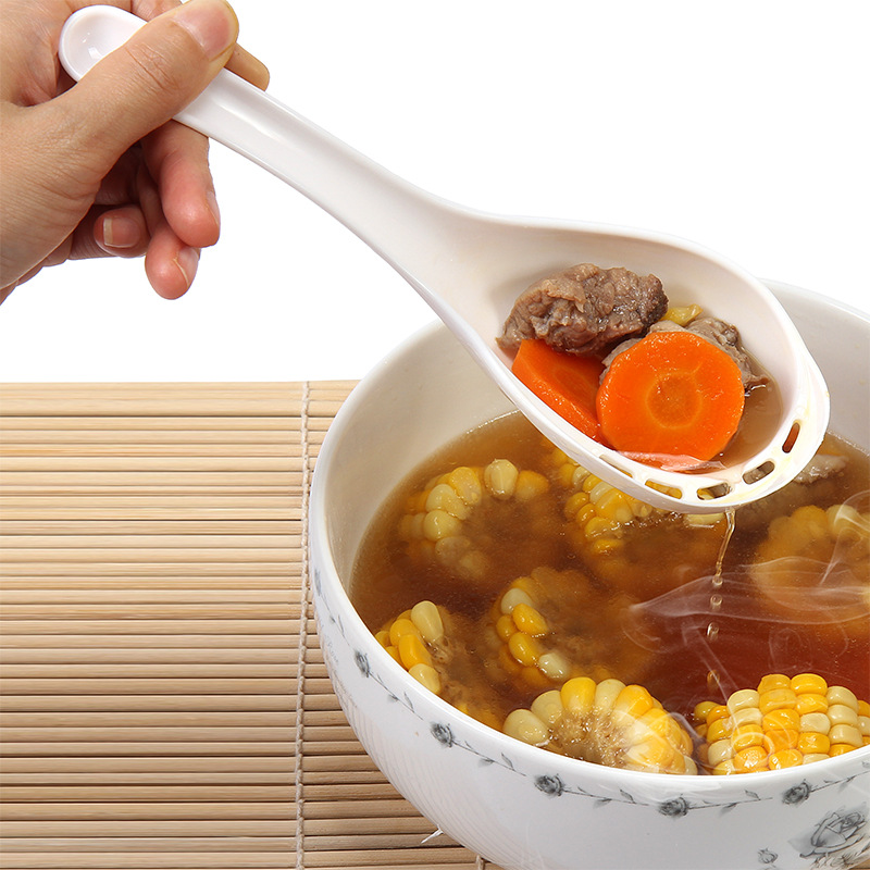 Creative Kitchen Tool,Dual-use Spoon Facilities Side Leakage Long Handle Filter Tableware 4 Color